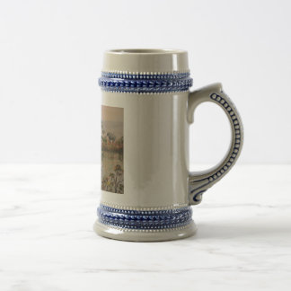 """Elephants At  The Water Hole"" Beer Stein"