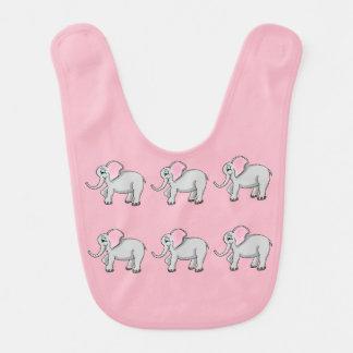Elephants Baby Bib