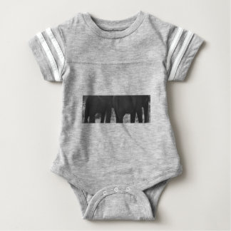 elephants baby bodysuit