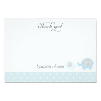 Elephants Baby Shower Thank You Card