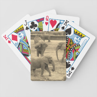 Elephants - by Fern Savannah Poker Deck