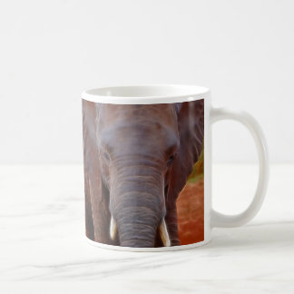 Elephants charge coffee mug