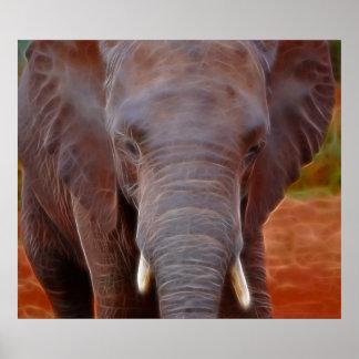 Elephants charge poster