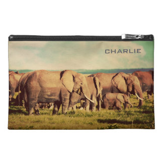Elephants custom name accessory bags
