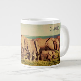 Elephants custom name jumbo mug
