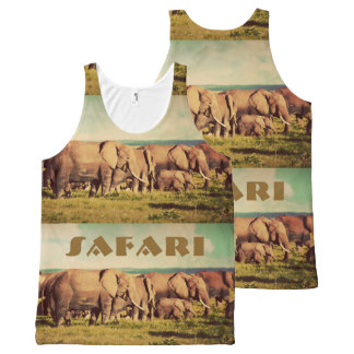 Elephants custom text tank top