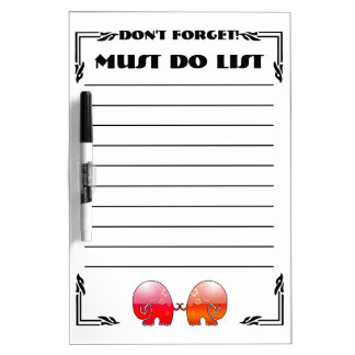 Elephants Don't Forget (Dry Erase Board) Dry Erase Boards