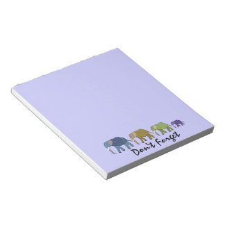 Elephants Don't Forget Notepads