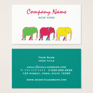 Elephants Fashion Boutique Event Planner Artist Business Card