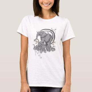 Elephants in Grey T-Shirt