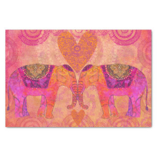 Elephants in Love Tissue Paper