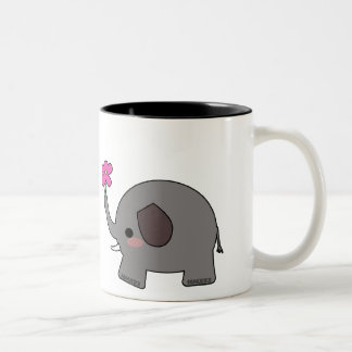 Elephants in Love Two-Tone Coffee Mug