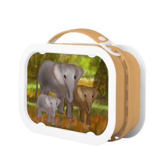 Elephants in the Rainforest Lunch Box