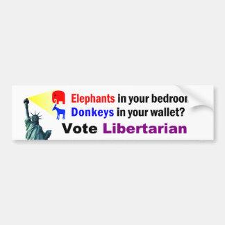 Elephants In Your Bedroom Bumper Sticker