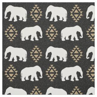 Elephants - Indian elephant design Fabric