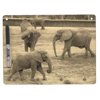 Elephants Keychain and Dry Erase Board