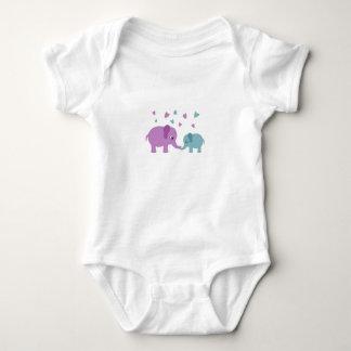 Elephants love baby bodysuit