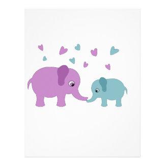 Elephants love custom letterhead