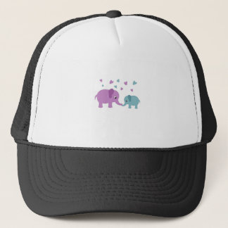 Elephants love trucker hat