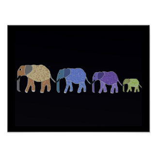 Elephants Never Forget Print
