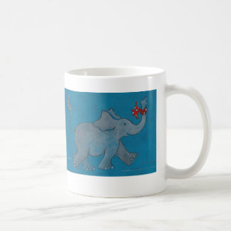 Elephants Never Forget (turquoise) Coffee Mug