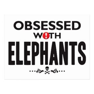Elephants Obsessed Postcard