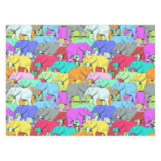 Elephants Parade - Colourful Tablecloth