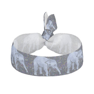 Elephants Pattern Hair Tie