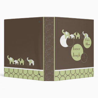 Elephant's Photo Album in Green 3 Ring Binders