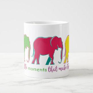 Elephants Pop Art Silhouette Vibrant Modern Simple Large Coffee Mug