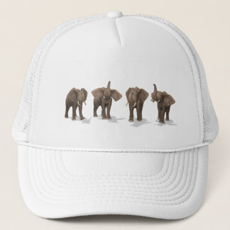 Elephants Quartet Trucker Hat