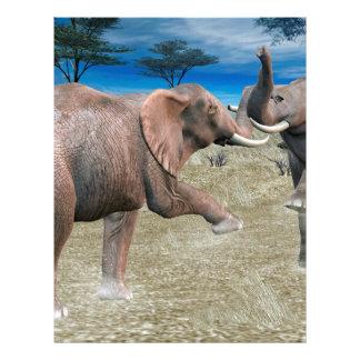 Elephants Serengeti Challenge Letterhead Template