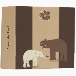 "Elephants Stylish 2"" Binder"