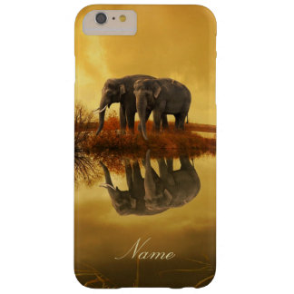 Elephants Sunset Barely There iPhone 6 Plus Case
