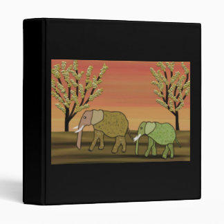 Elephants Sunset Binders
