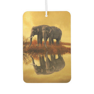 Elephants Sunset Car Air Freshener