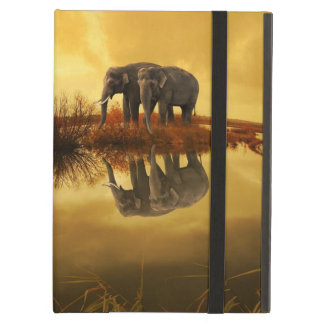 Elephants Sunset iPad Air Cases
