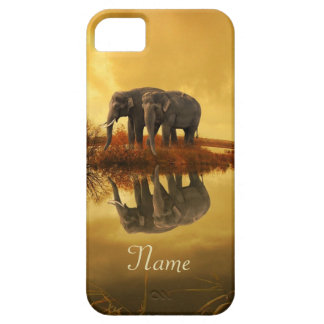 Elephants Sunset iPhone 5 Cover