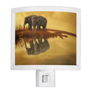 Elephants Sunset Nite Light