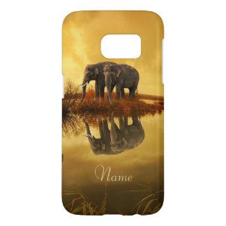 Elephants Sunset Samsung Galaxy S7 Case