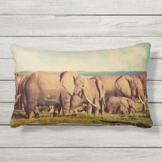 Elephants throw pillows