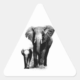 Elephants Triangle Sticker