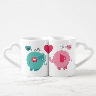 Elephants True Love Forever Lovers Mugs