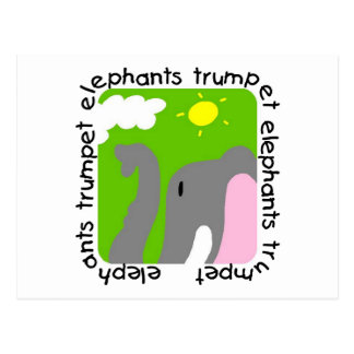 Elephants Trumpet Tshirts and Gifts Postcard