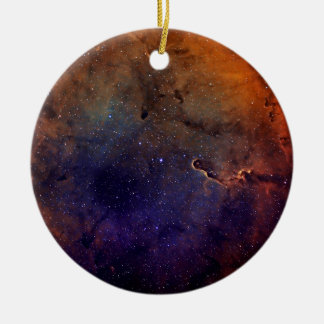 Elephant's Trunk Nebula Round Ceramic Ornament