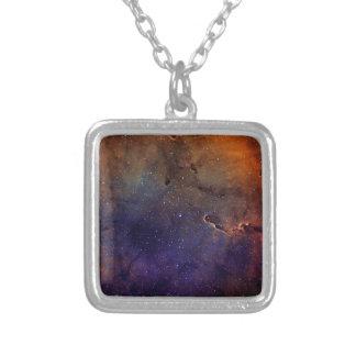 Elephant's Trunk Nebula Silver Plated Necklace