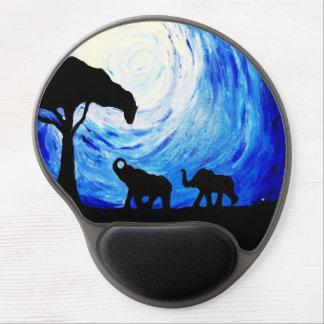 Elephants Under Moonlight (K.Turnbull Art) Gel Mouse Pad