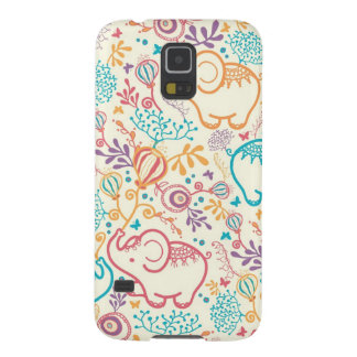 Elephants with bouquets pattern galaxy s5 cases