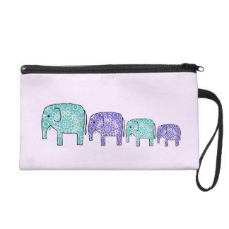 Elephants Wristlet