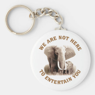 Elephats Deserve Respect Keychain